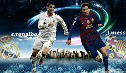 2012 Ronaldo vs Messi Wallpaper