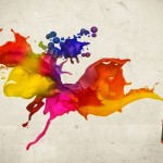 Abstract Colors Spray