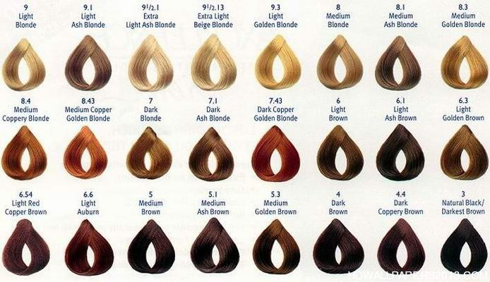 Loreal Hair Colour Chart