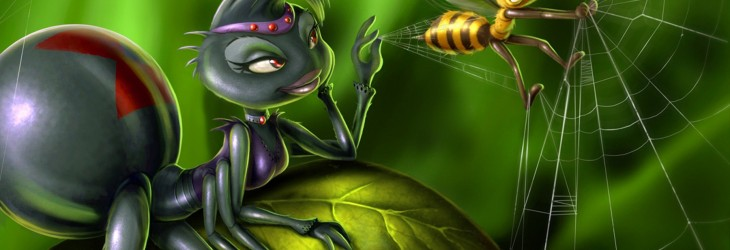 spider-and-bee-3d-wallpaper