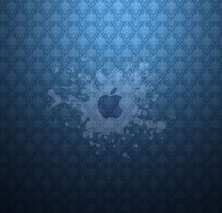 Apple Blue Splash Wallpaper
