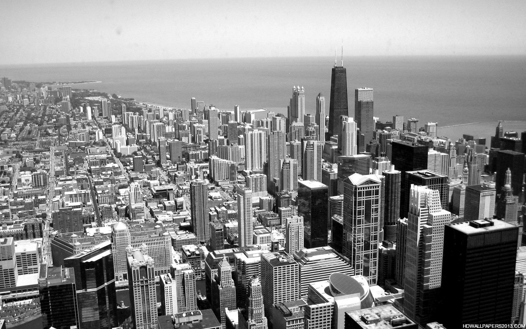Black and White City Wallpaper | High Definition ...