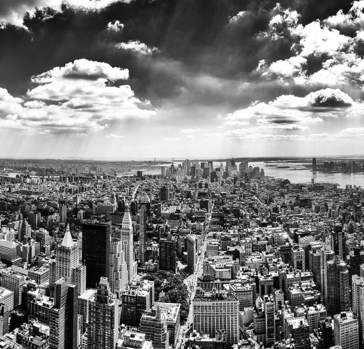 Black and White New York City Wallpaper