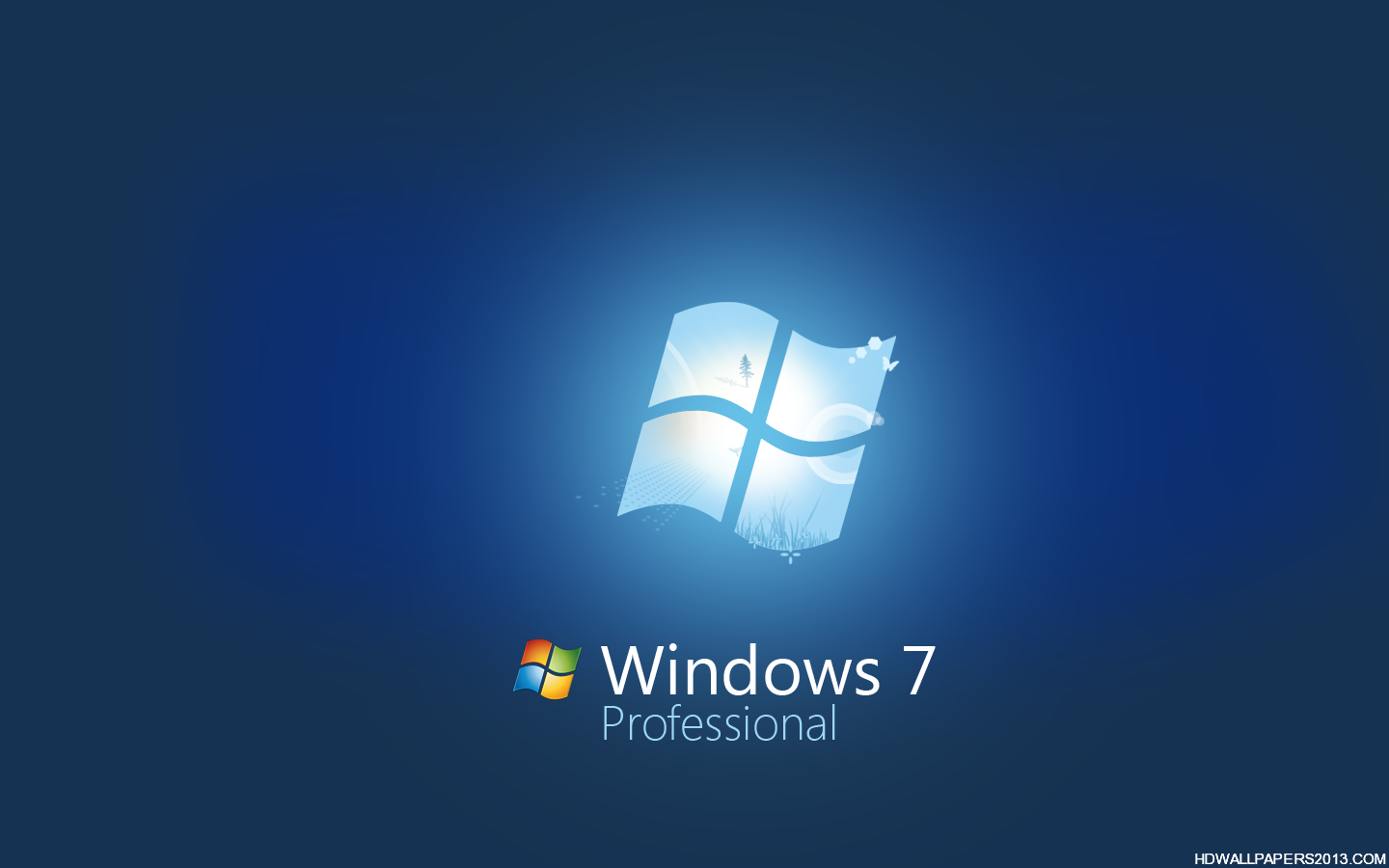blue windows 7 professional wallpaper high definition