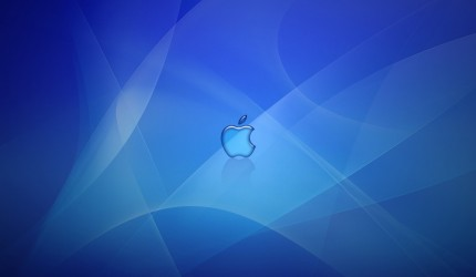 Deep Blue Apple Logo Wallpaper