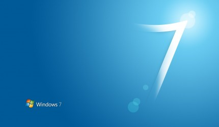 Light Blue Windows 7 Wallpaper
