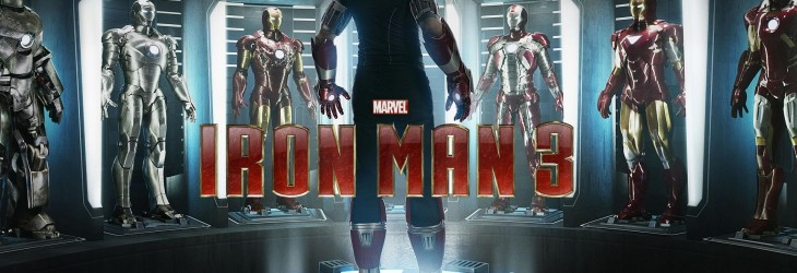 Iron Man 3, Iron Man and his wall of suits wallpaper