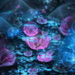 Magical Abstract Flowers Wallpaper