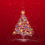 Christmas Star Tree Wallpaper
