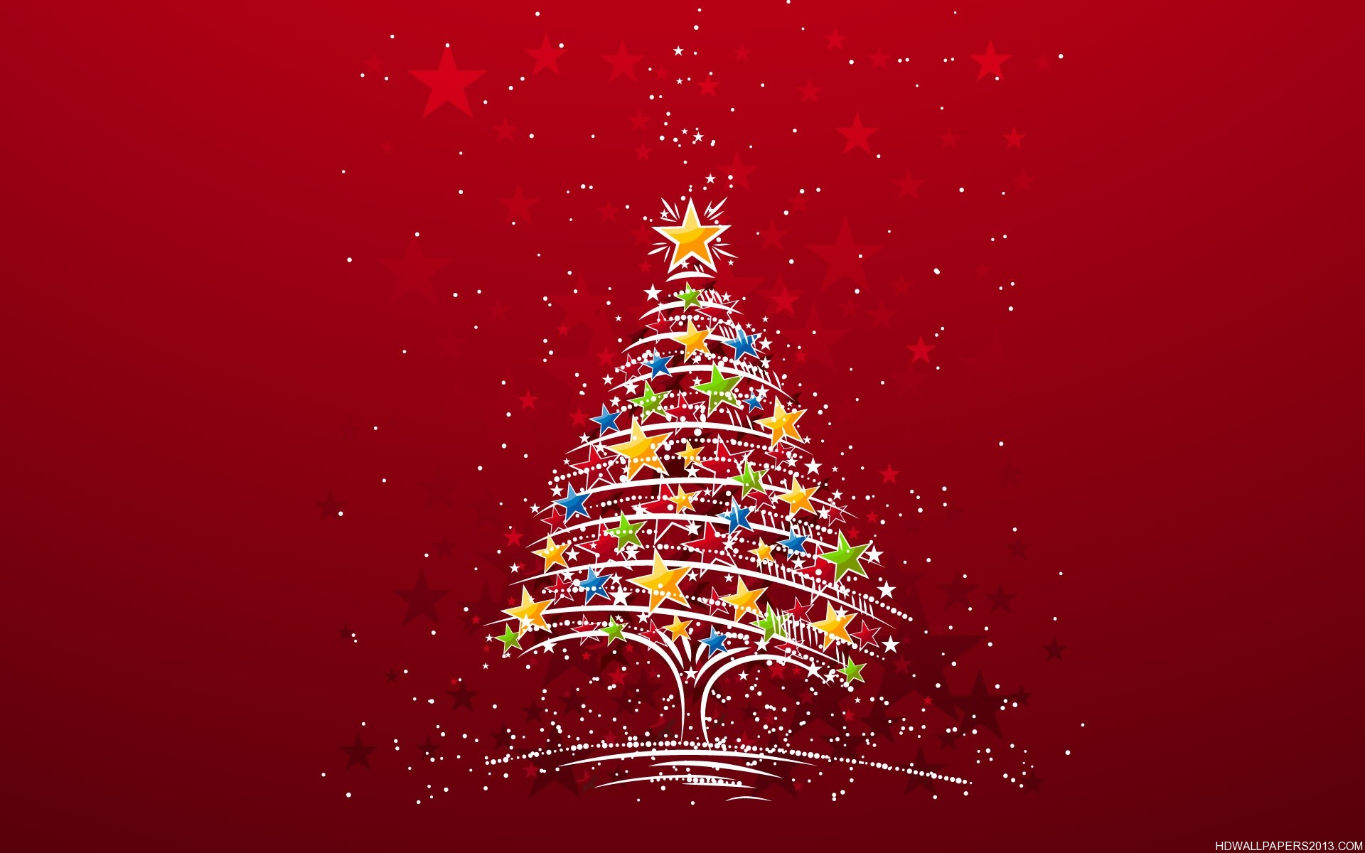 Christmas Star Tree Wallpaper High Definition Wallpapers High