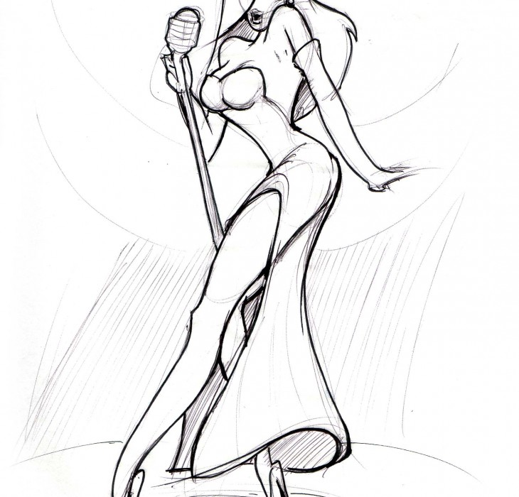 Sketch of Jessica Rabbit