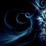 Cool Dark Blue Abstract Wallpaper