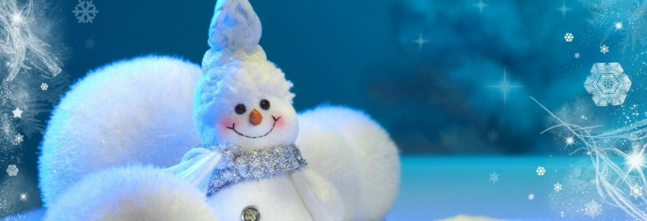Adorably Happy Snowman