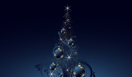 Blue Bauble Christmas Tree