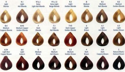 Loreal Hair Colour Chart