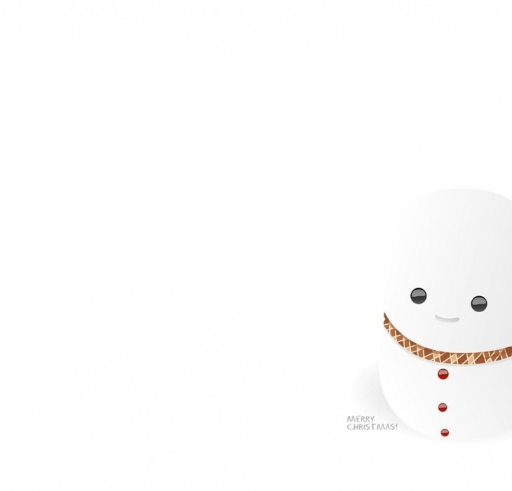 The most minimal Christmas wallpaper