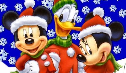 Mickey Mouse at Christmas Wallpaper