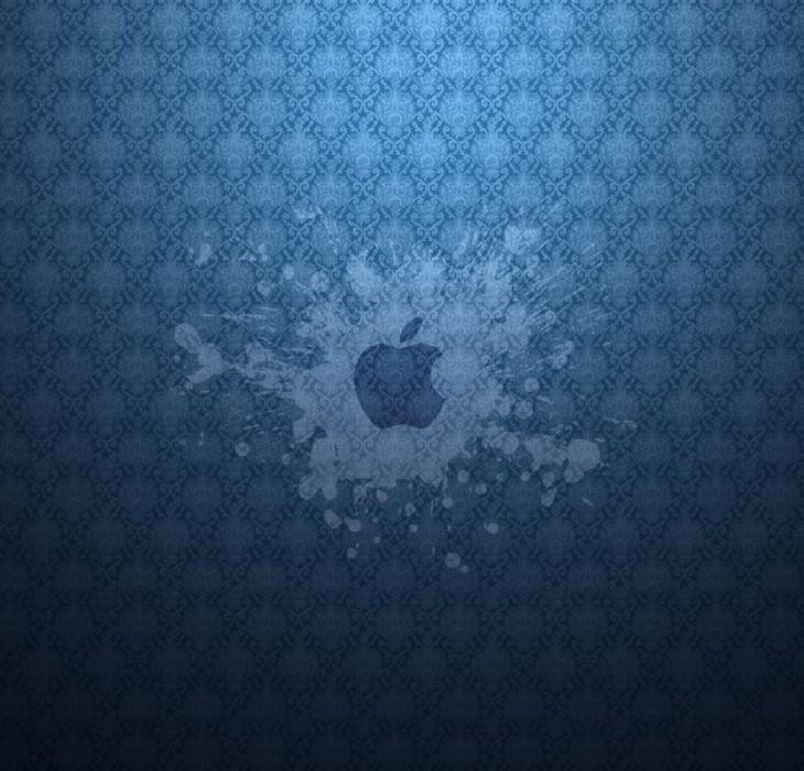 Apple Blue Splash Wallpaper
