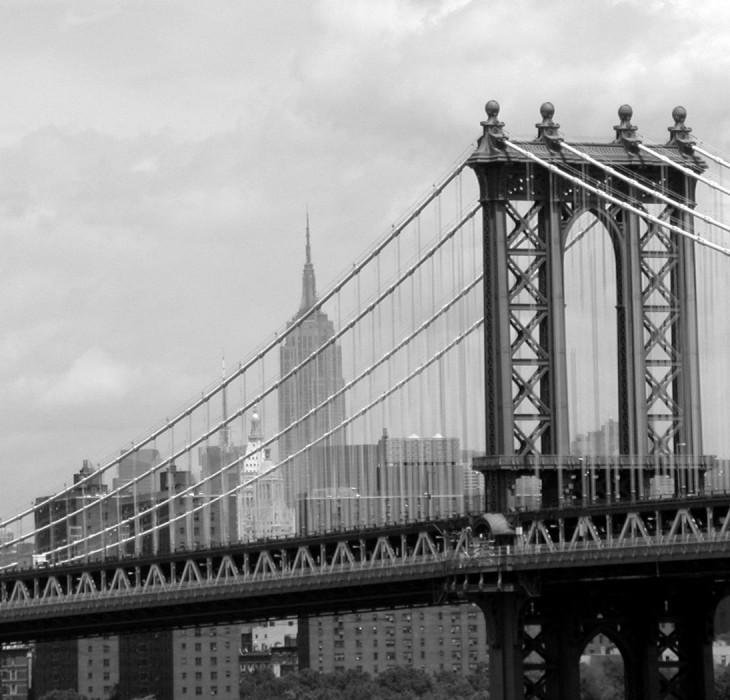 Black and White Bridge Wallpaper