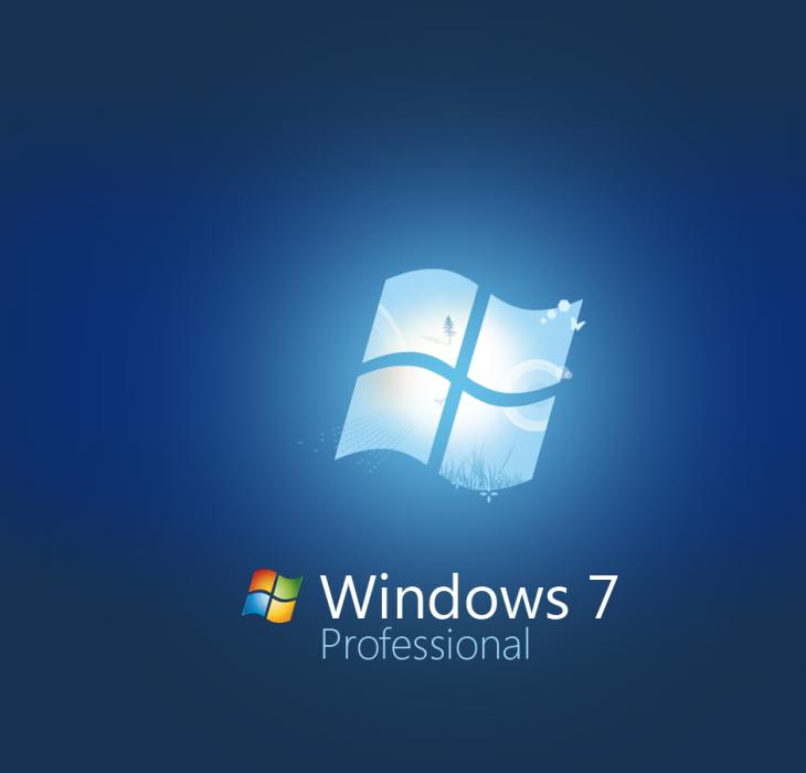 Blue Windows 7 Professional Wallpaper