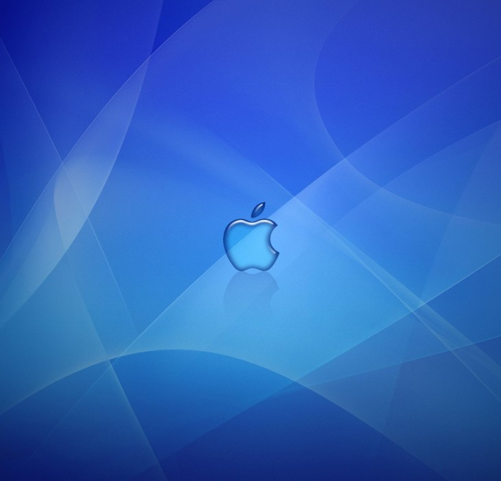 Deep Blue Apple Logo Wallpaper