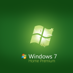 Green Windows 7 Home Premium Wallpaper