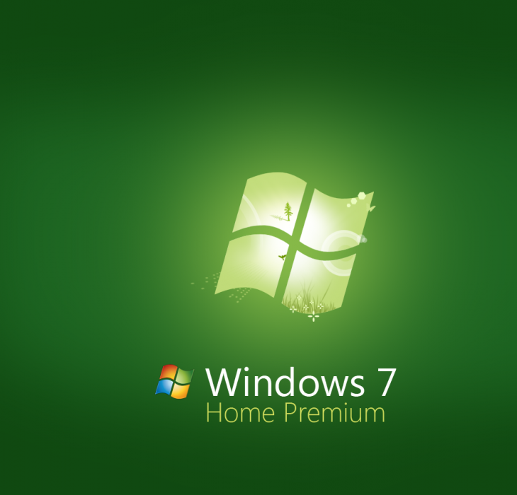 Green Windows 7 Home Premium Wallpaper