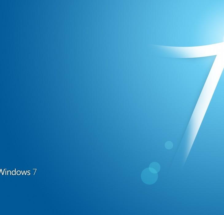 Light Blue Windows 7 Wallpaper