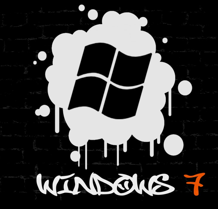 Windows 7 Graffiti Wallpaper