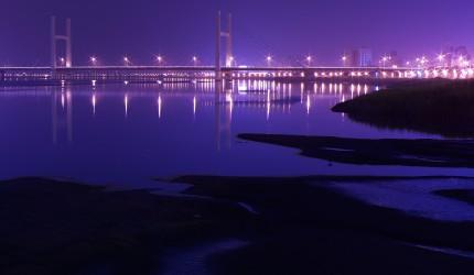 Purple City Wallpaper