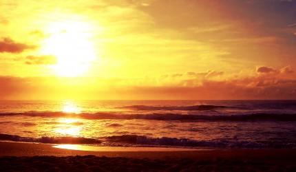 Sunset over the ocean nature wallpaper