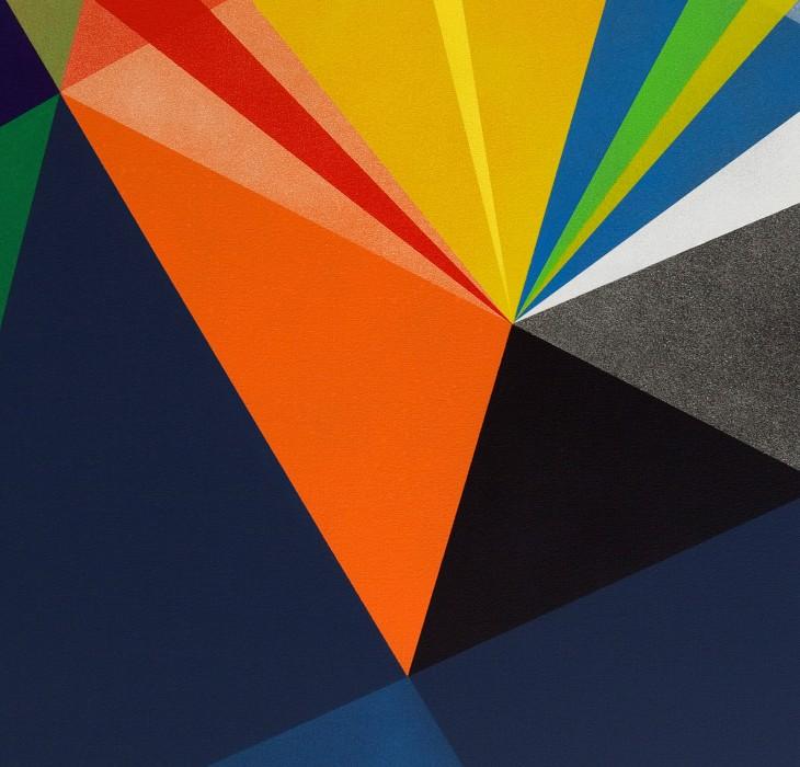 Triangular shapes wallpaper
