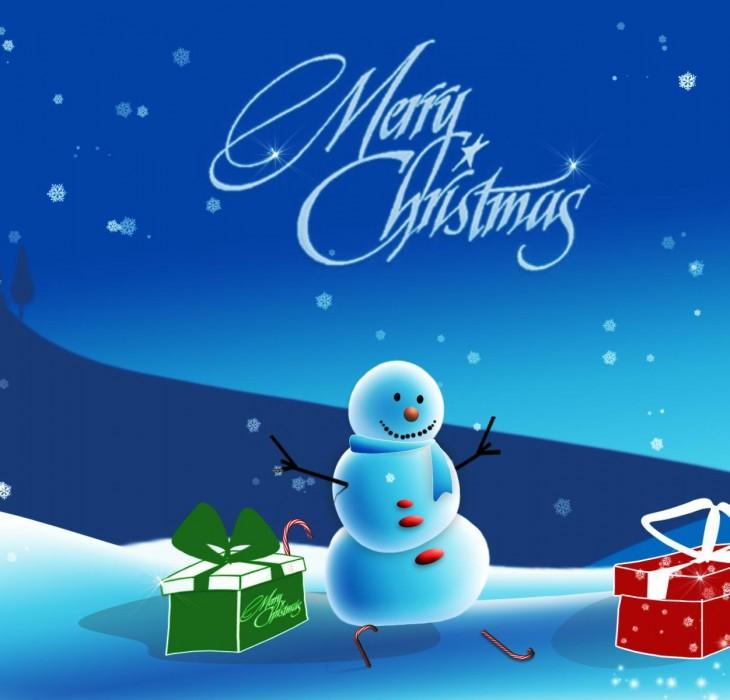 A Very Merry Christmas Snowman Wallpaper