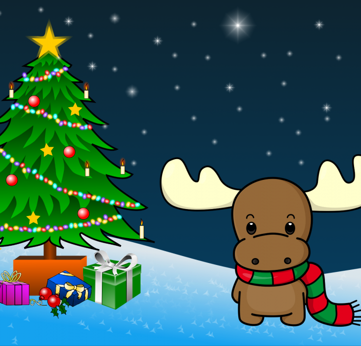 Christmas Reindeer Wallpaper