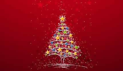 Christmas Star Tree Wallpaper