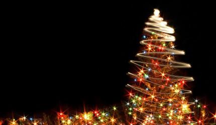 Christmas Tree Sparkle Wallpaper