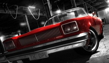 Awesome Red Car Background