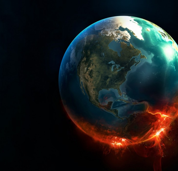 HD Wallpaper of Imploding Earth