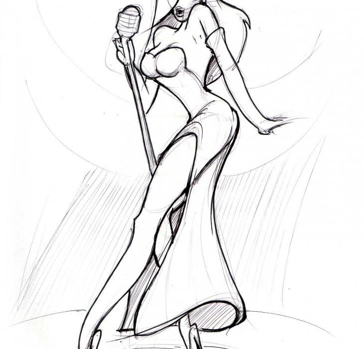 Sketch of Jessica Rabbit
