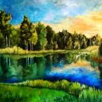 Beautiful Lake Painting