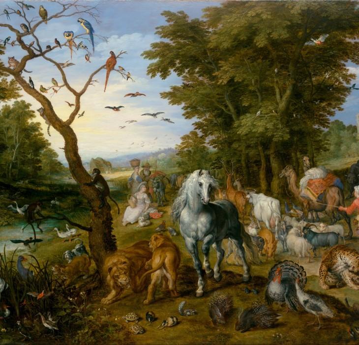 Biblical Animal Filled Wallpaper