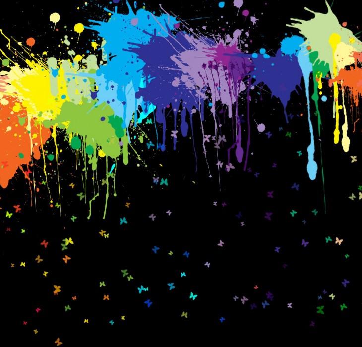Graffiti Splashes and Butterflies