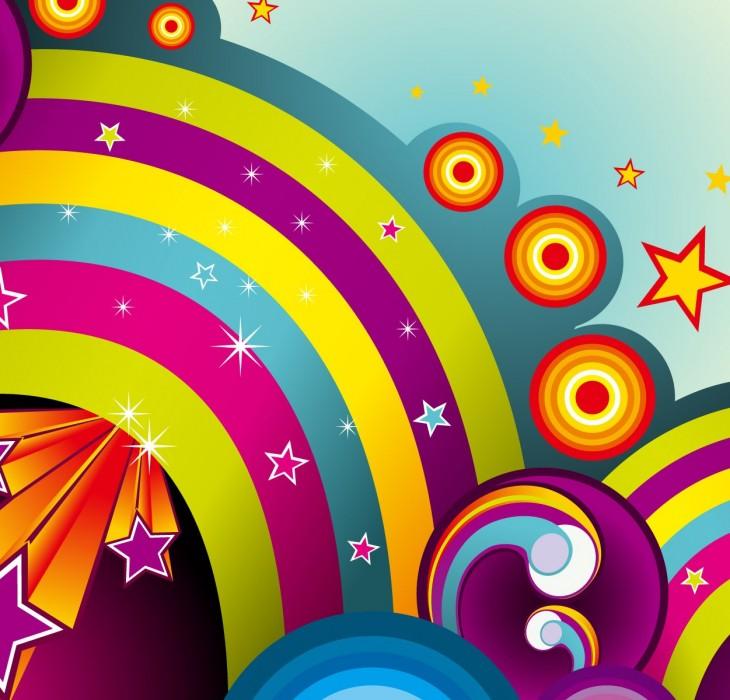 Rainbow & Stars