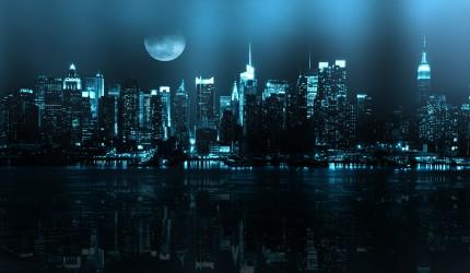 Stunning Blue City Skylight