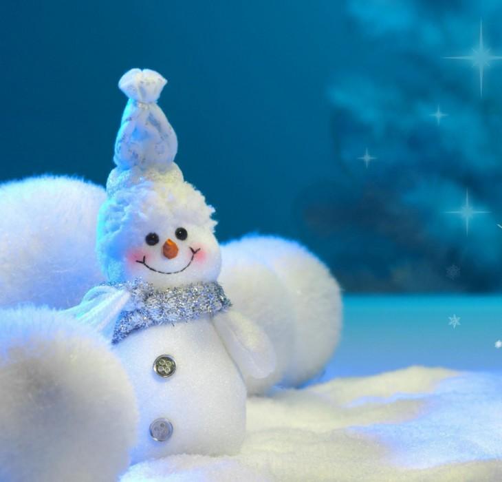 Adorably Happy Snowman