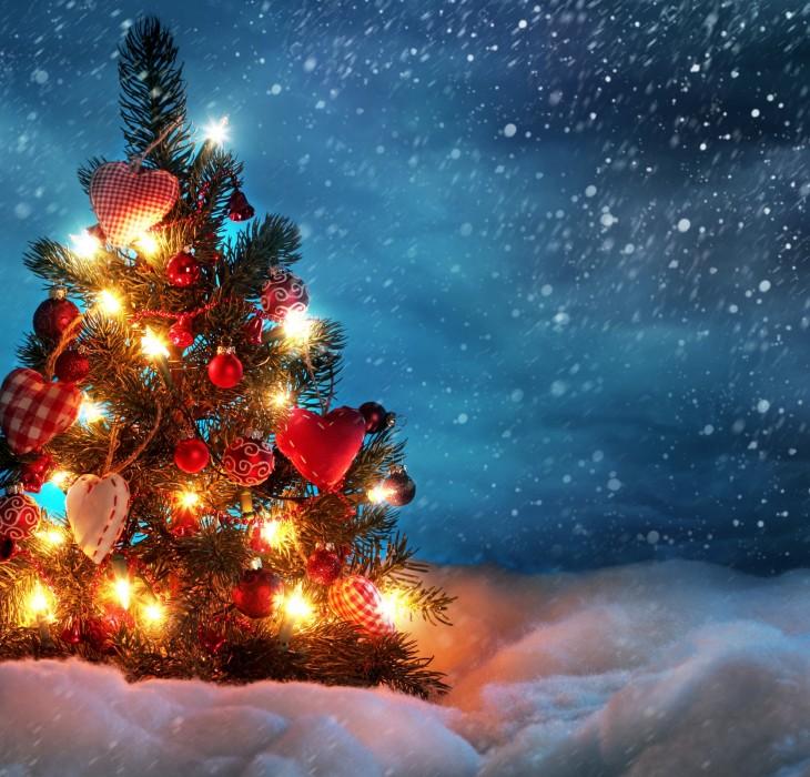 Small Glowing Christmas Tree